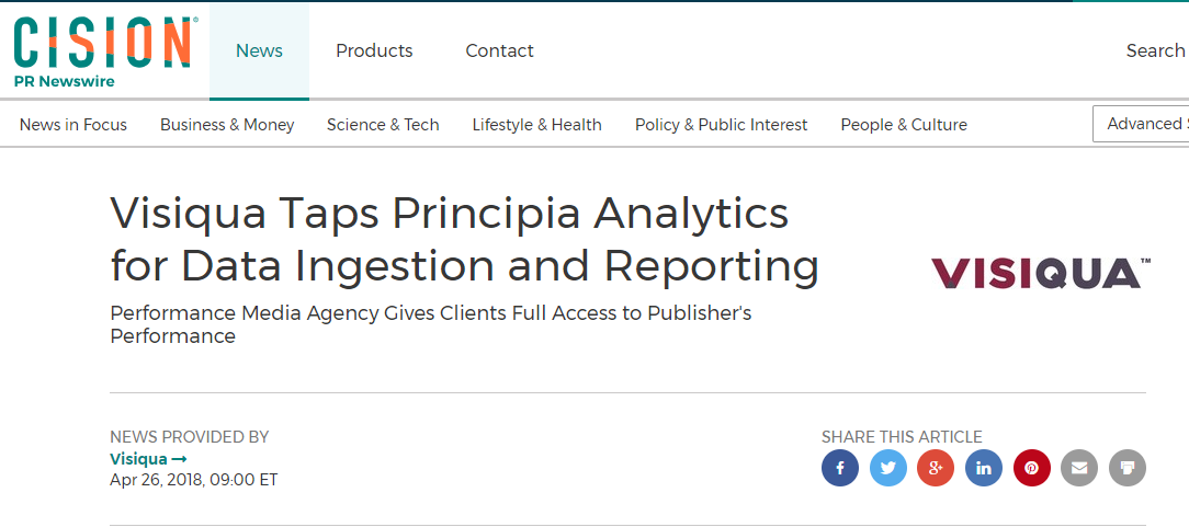 Visiqua-Taps-Principia-Analytics-Data-Ingestion-Reporting